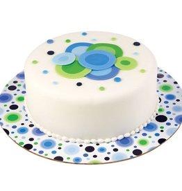Wilton Cake Board Circles Blue/Green -30cm- pk/3