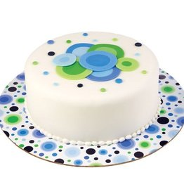 Wilton Wilton Cake Board Circles Blue/Green -30cm- pk/3