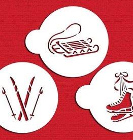 Designer Stencils Winter Sports Set/3