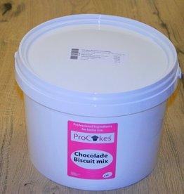 ProCakes Chocolade Biscuit Mix 4 kg