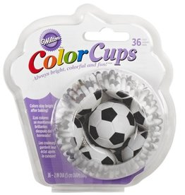 Wilton ColorCups Baking Cups Soccer pk/36