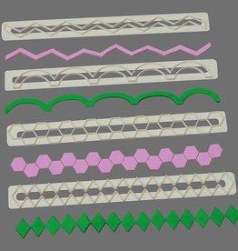 FMM FMM Straight frill cutters no. 5 (Geometric Edging)