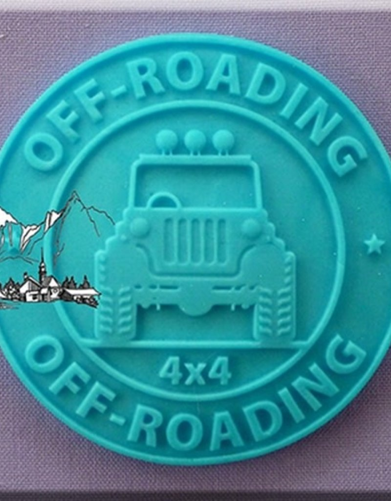 Alphabet Moulds Cupcake Topper 4 x 4 Off-Roading