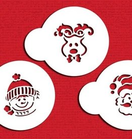 Designer Stencils Designer Stencils Whimisical Holiday Cookie Set/3