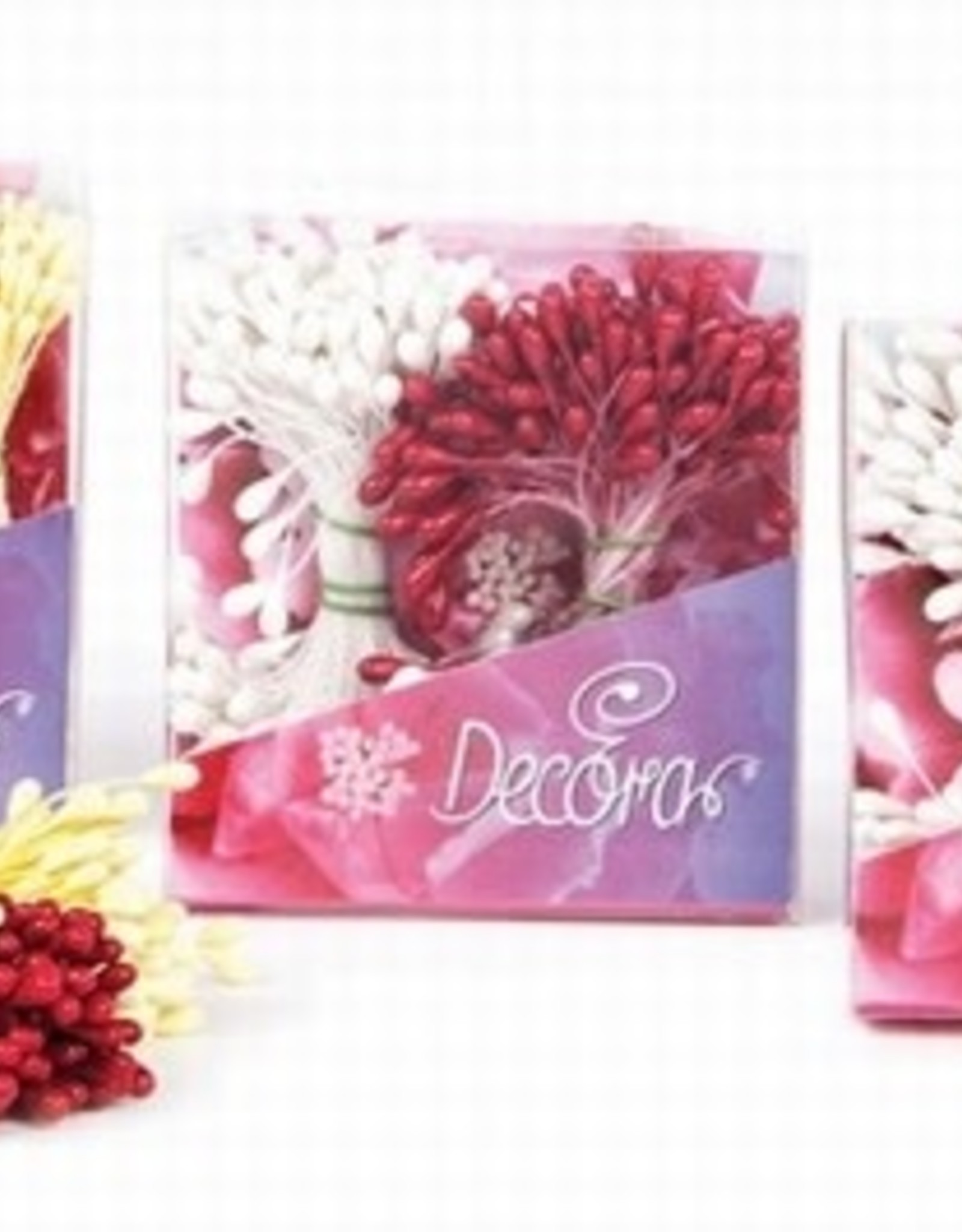 Decora Decora Pistils For Flowers Red/Yellow, 288st.