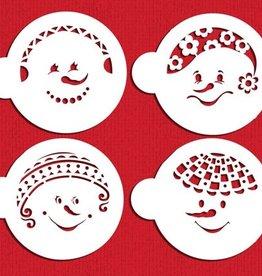 Designer stencils Snowkids Cookie Stencil Set/4
