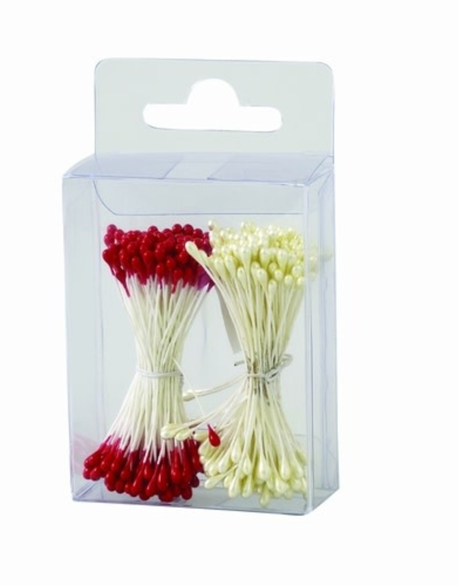Decora Decora Pistils For Flowers Pearl White/Red, 288st.