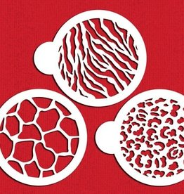 Designer Stencils Animal Skin Cookie Set/3