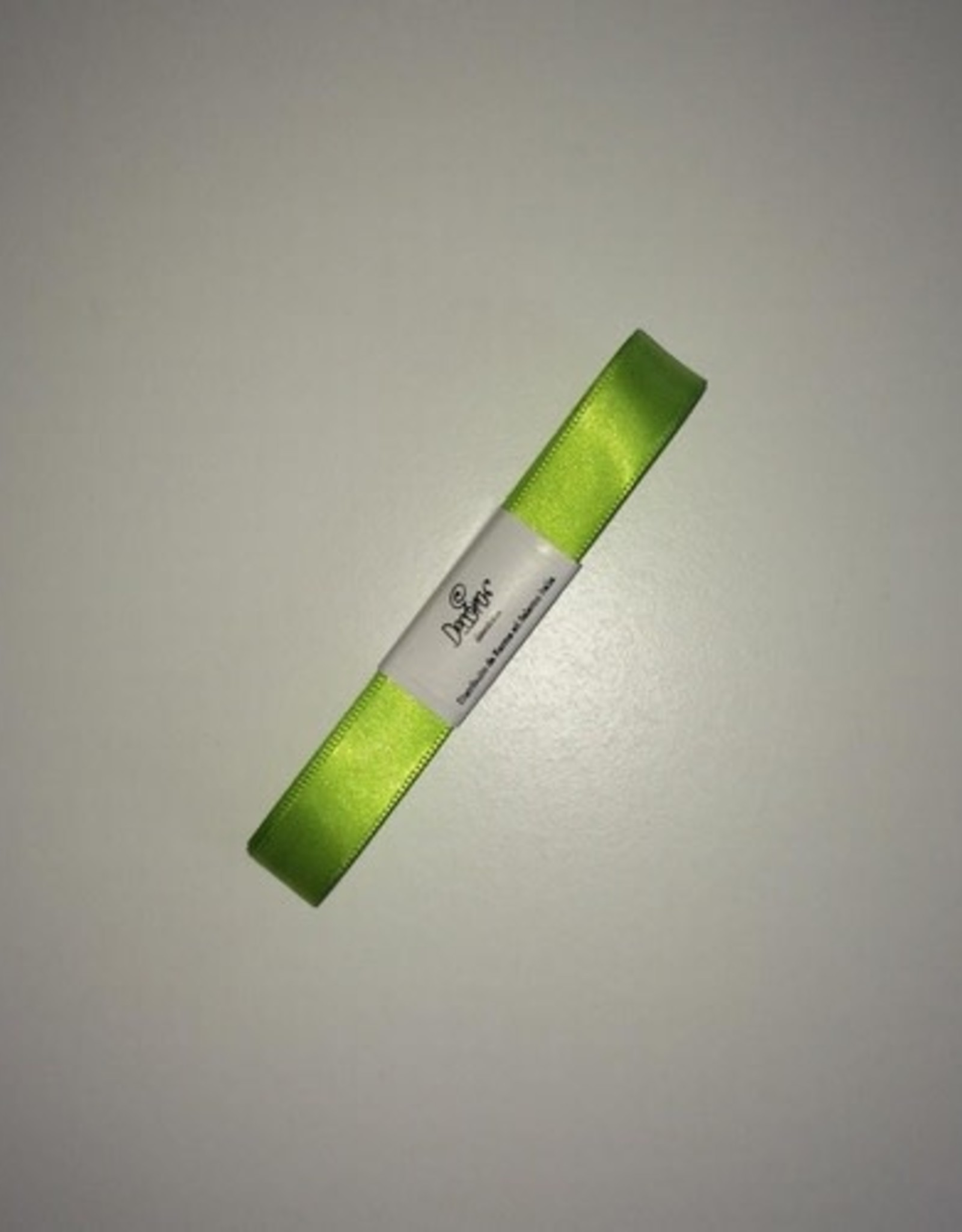 Double Satin Ribbon 15mm x 5mtr Apple Green