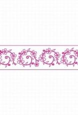 Decora Decora Stencil 7x30cm Flower Pattern