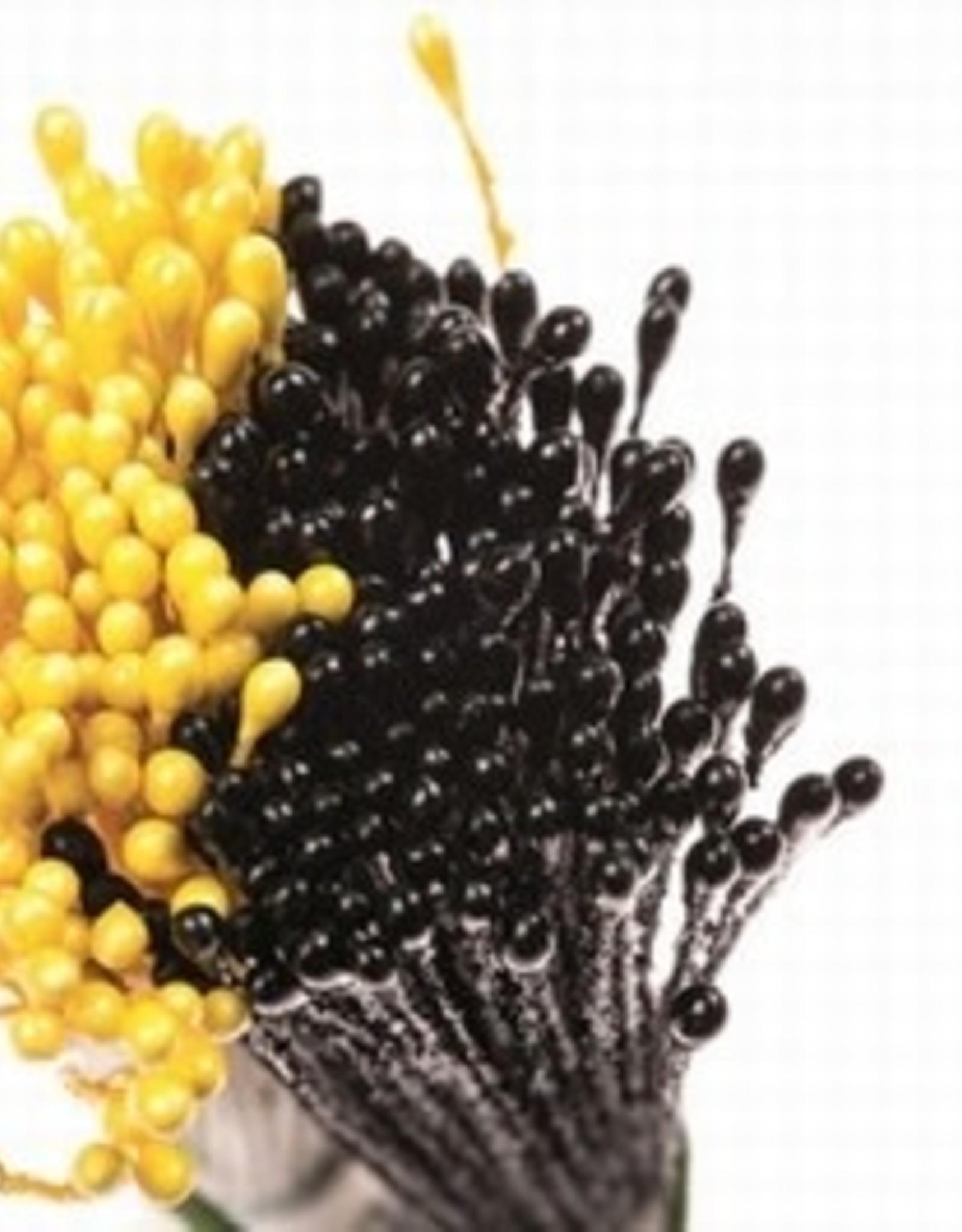 Decora Decora Pistils For Flowers Pearl Yellow/Pearl Black, 288st.