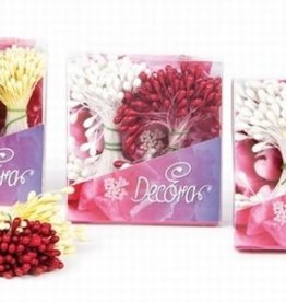 Decora Pistils For Flowers White/Brown/Yellow, 432st.