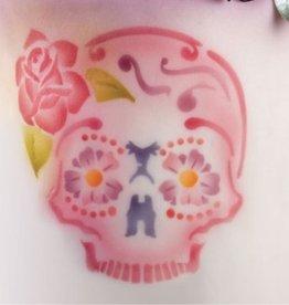 ICA Airbrush Stencil Skull Frontal
