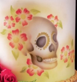ICA Airbrush Stencil Skull  Lateral