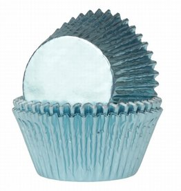 House of Marie House of Marie Baking Cups Folie Baby Blauw pk/24