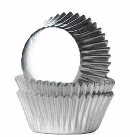 House of Marie House of Marie Mini Baking Cups Folie Zilver pk/36