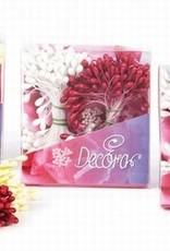 Decora Decora Pistils For Flowers White/Black/Yellow, 864st.