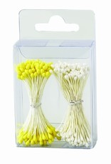 Decora Decora Pistils For Flowers Pearl White/Yellow, 288st.