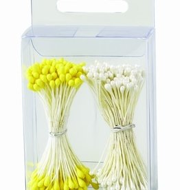 Decora Pistils For Flowers Pearl White/Yellow, 288st.