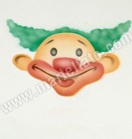 ICA Airbrush Stencil Clown