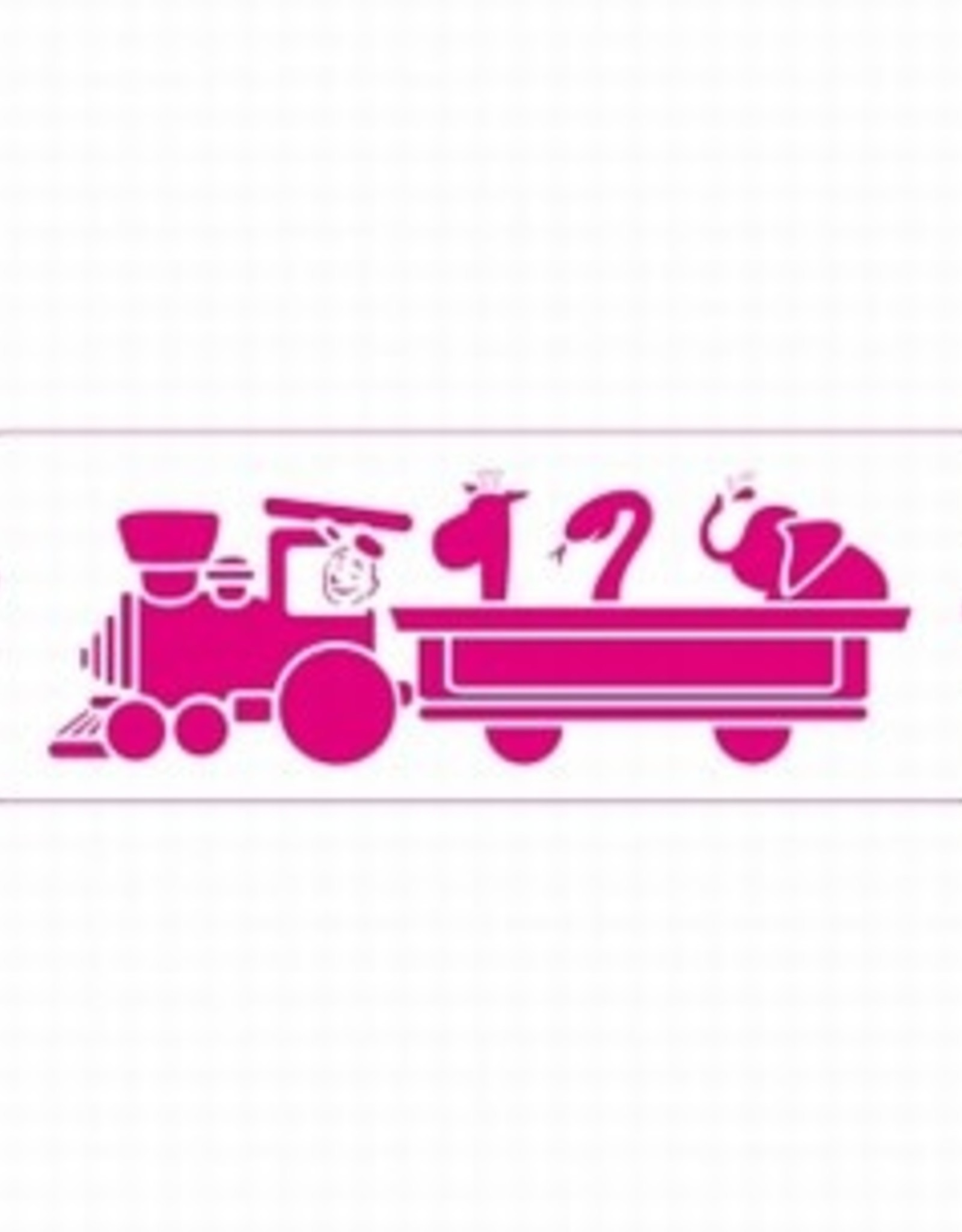 Decora Decora Stencil 10x30cm Train