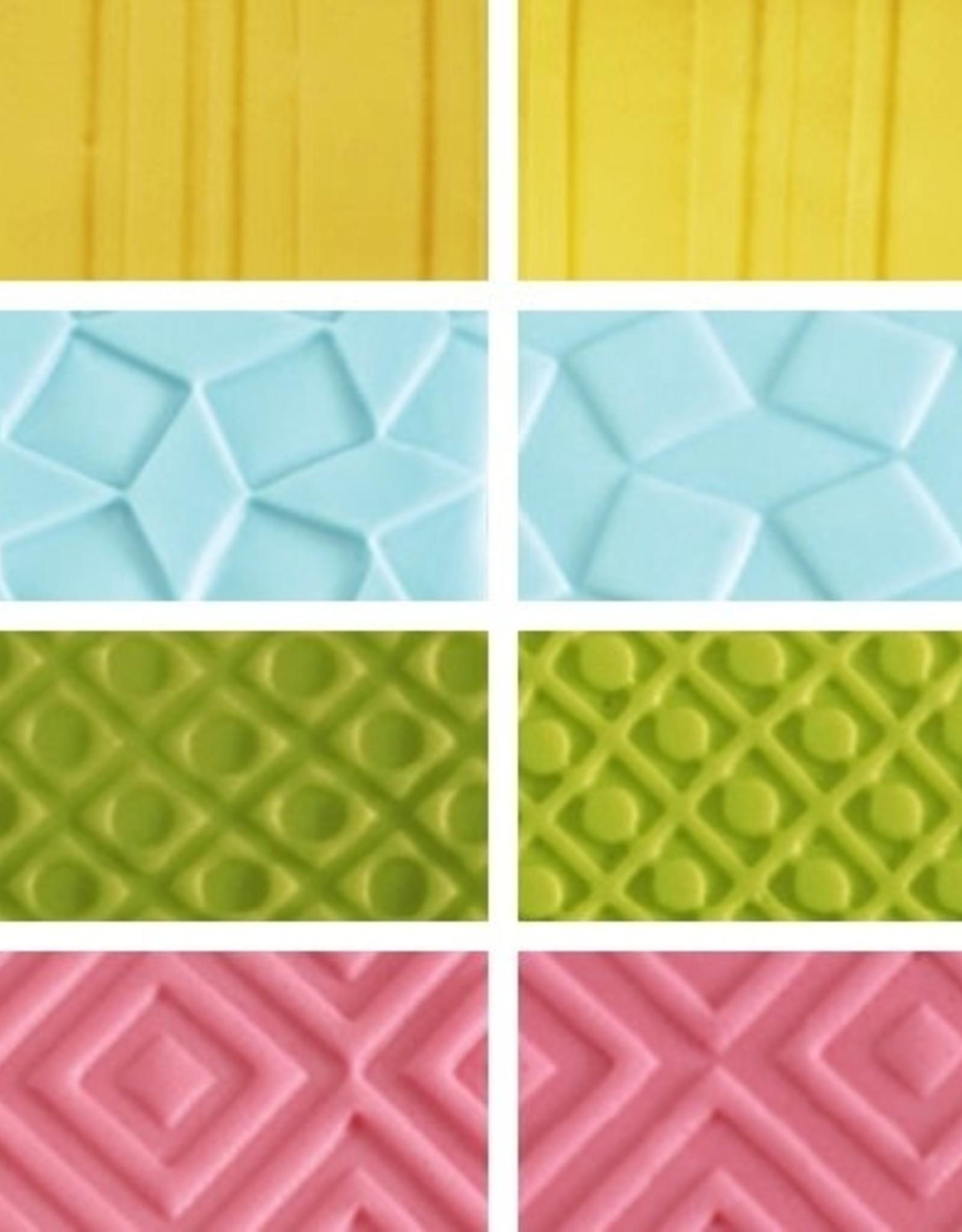 Decora Decora Decorative Sheets Set/4 Geometric Effect