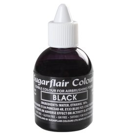 Sugarflair Airbrush Colouring -Black- 60ml