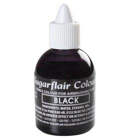 Sugarflair Sugarflair Airbrush Colouring -Black- 60ml