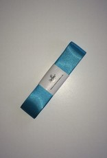Double Satin Ribbon 25mm x 3mtr Turquoise
