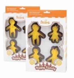 Decora Happy Family Uitsteker/Stempelset