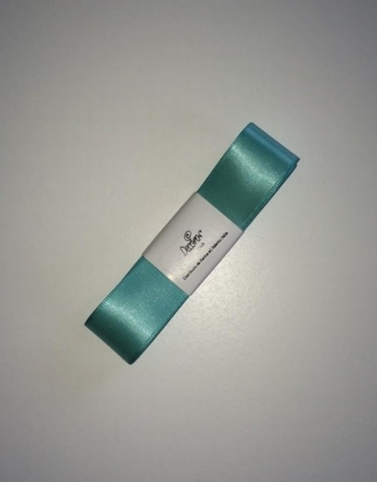 Double Satin Ribbon 25mm x 3mtr Teal Blue