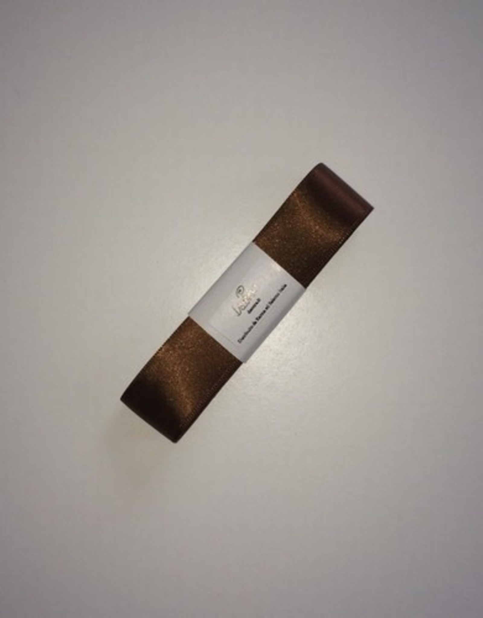Double Satin Ribbon 25mm x 3mtr Brown