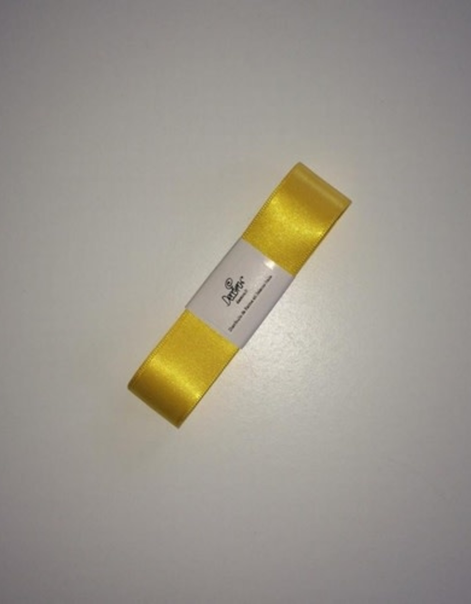 Double Satin Ribbon 25mm x 3mtr Yellow