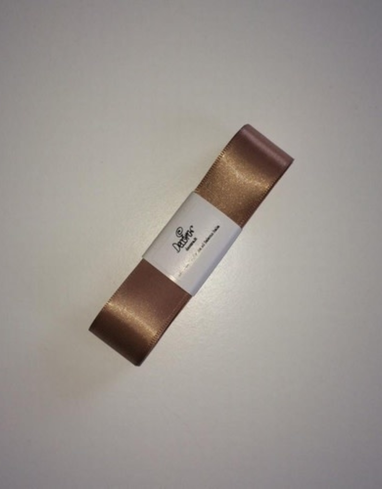 Double Satin Ribbon 25mm x 3mtr Caffe Latte