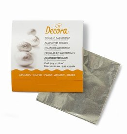 Decora Foil Wrappers Silver pk/150