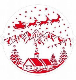 Decora Decora Stencil Ø25cm Christmas Landscape