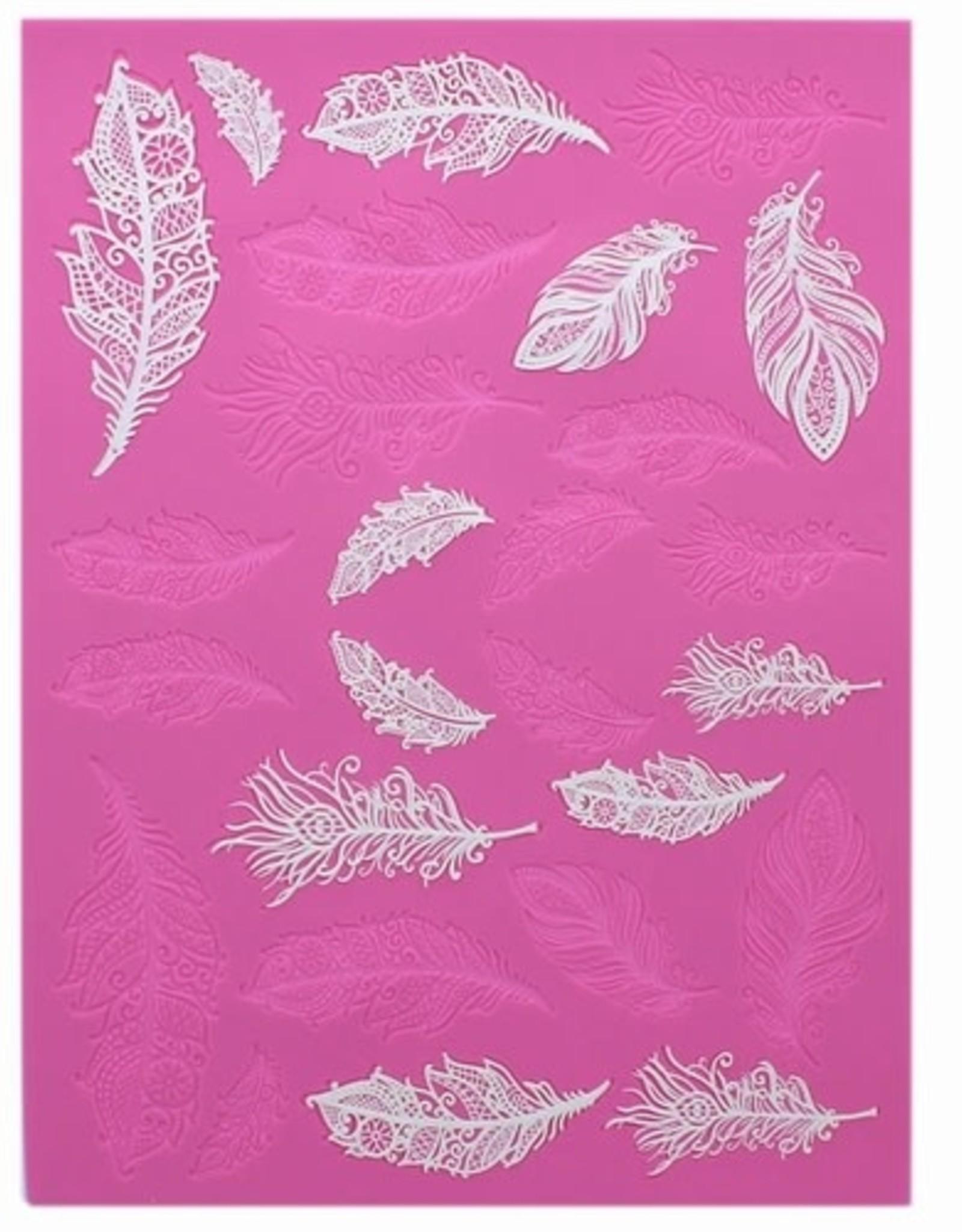 Clair Bowman Claire Bowman 3D Large Cake Lace Mat Feathers
