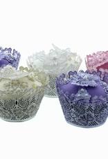 Clair Bowman Claire Bowman 3D Lace Mat Butterflies Cupcake Wrapper