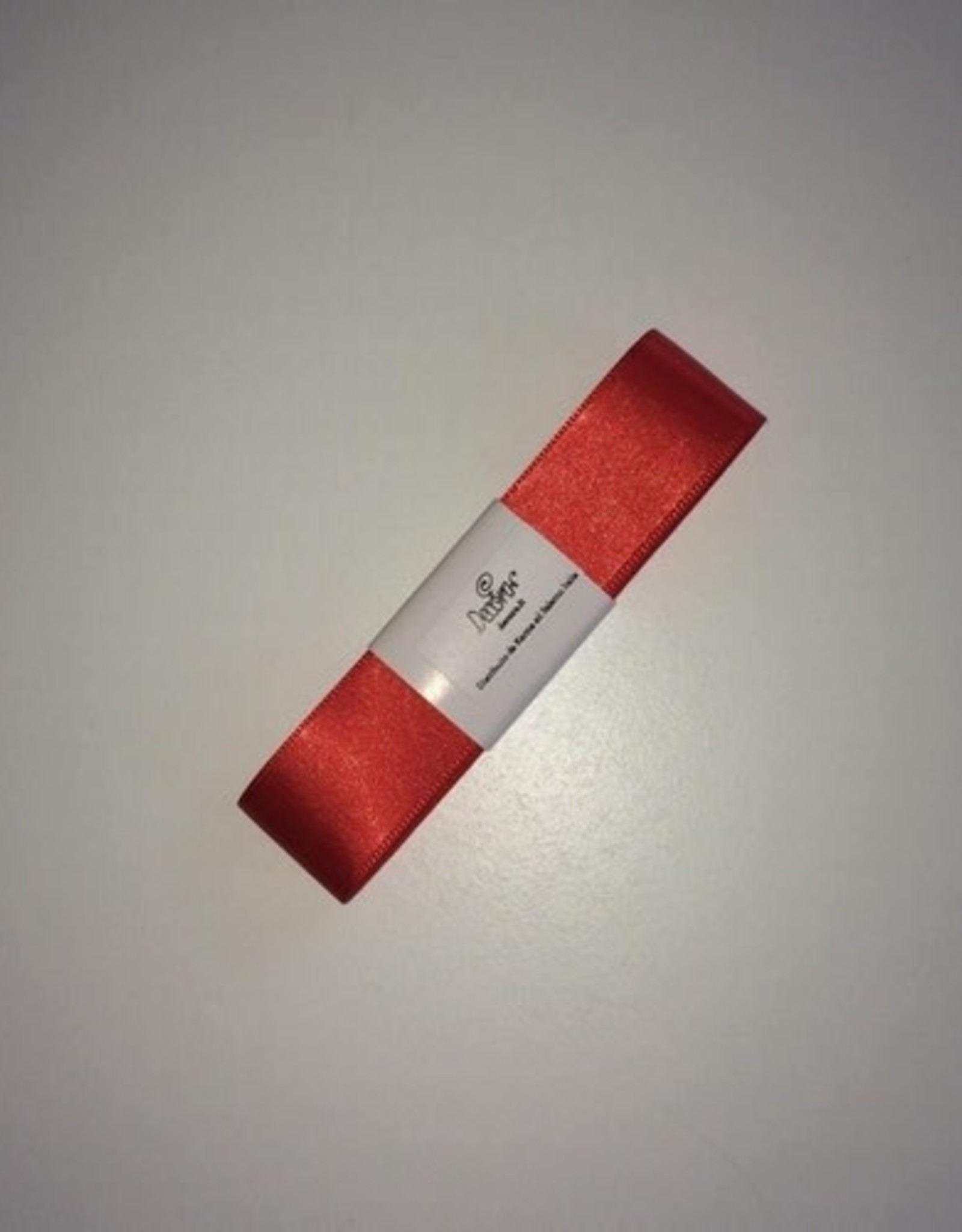 Double Satin Ribbon 25mm x 3mtr Coral Red