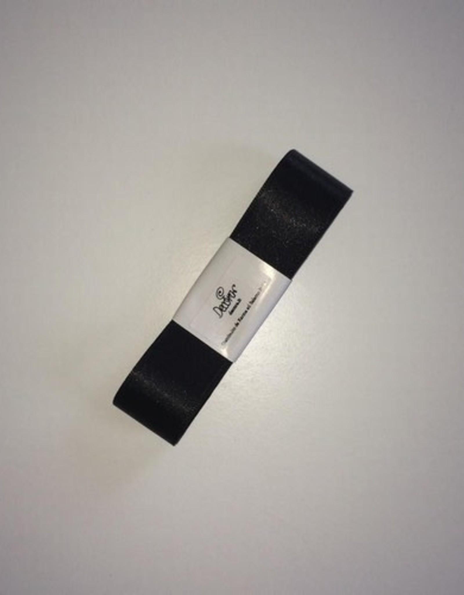 Double Satin Ribbon 25mm x 3mtr Black