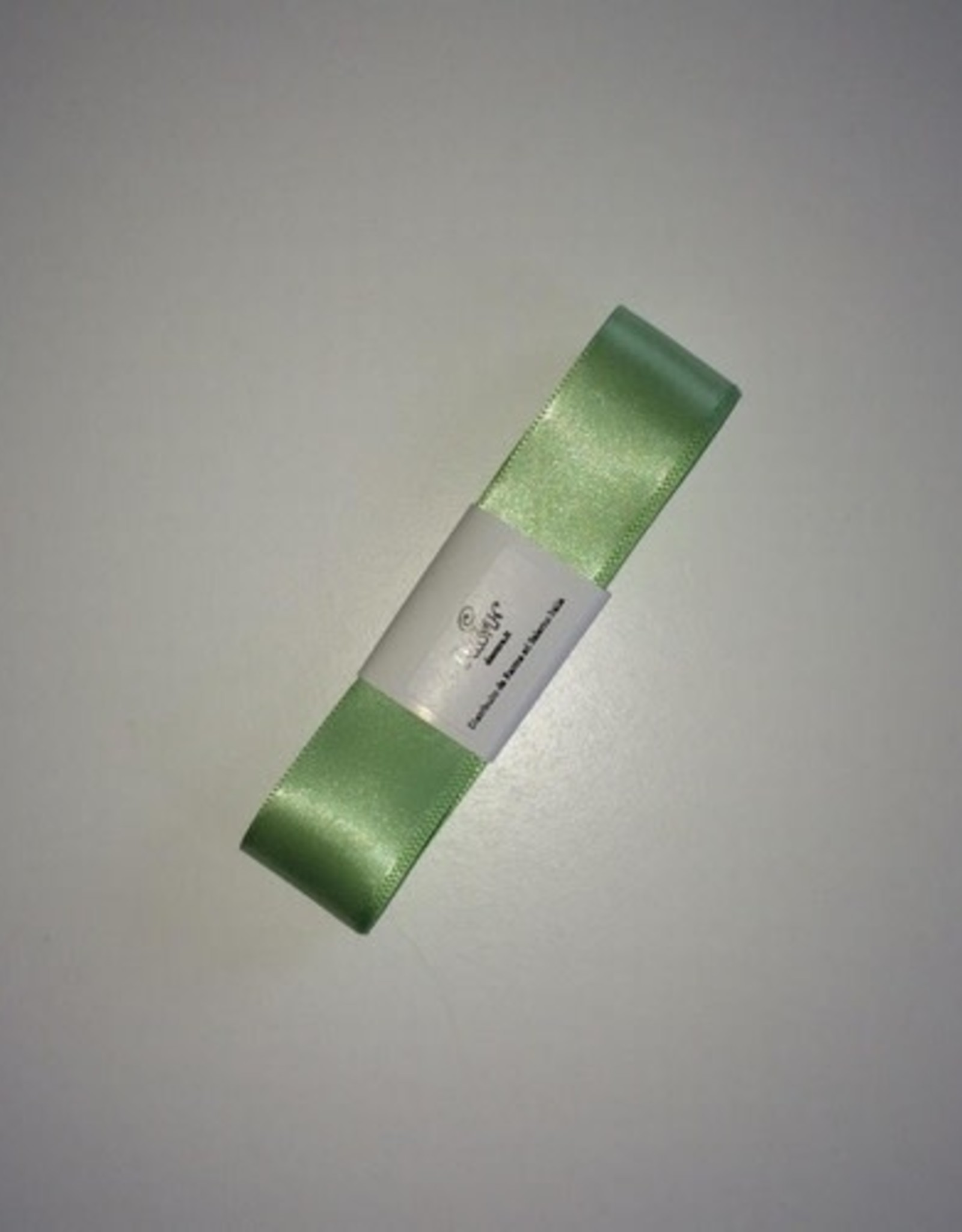 Double Satin Ribbon 25mm x 3mtr Light Green