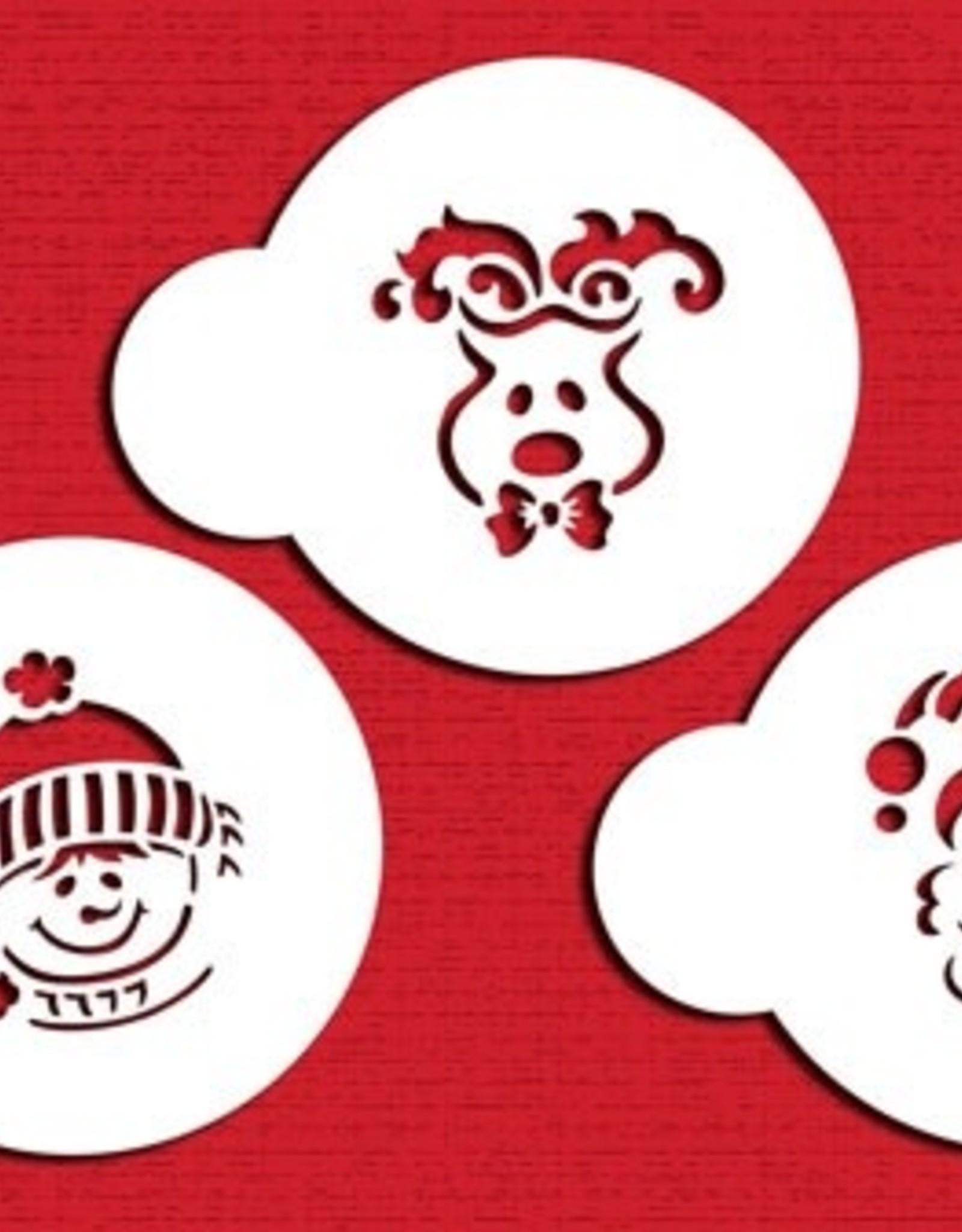 Designer Stencils Designer Stencils Whimisical Holiday Cookie Set/3