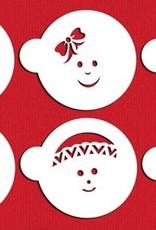 Designer Stencils Designer Stencils Baby Faces Set/6