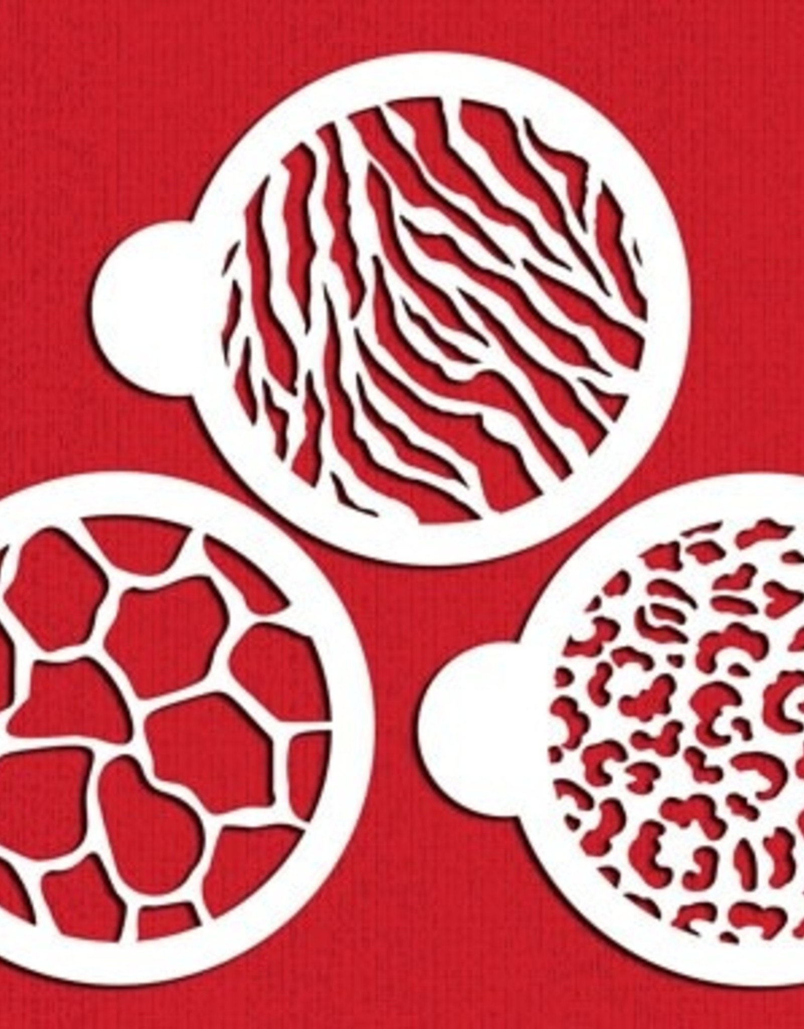 Designer Stencils Designer Stencils Animal Skin Cookie Set/3