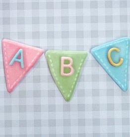 Katy Sue Designs Katy Sue Mould Bunting Alphabet