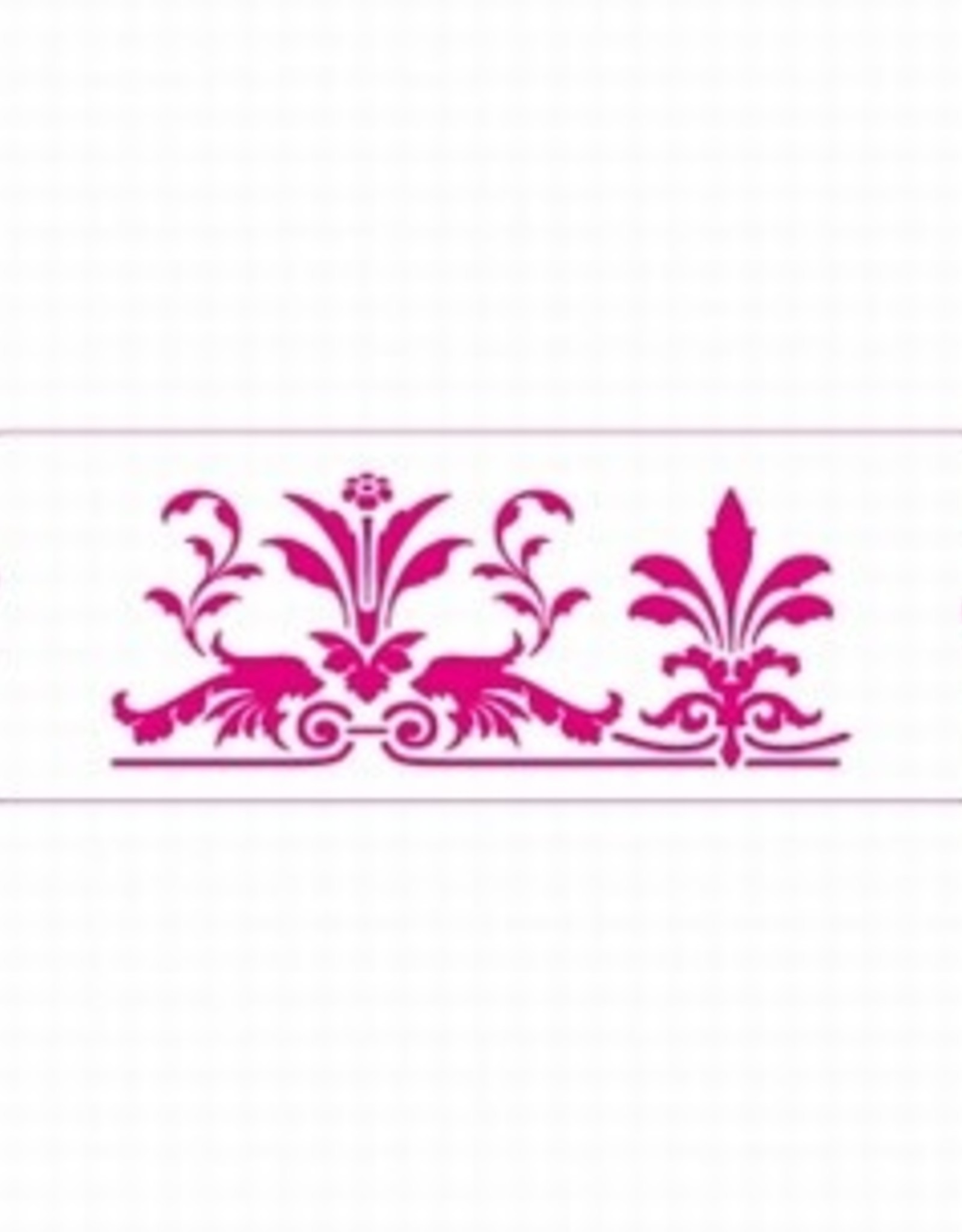 Decora Decora Stencil 10x30cm Royal