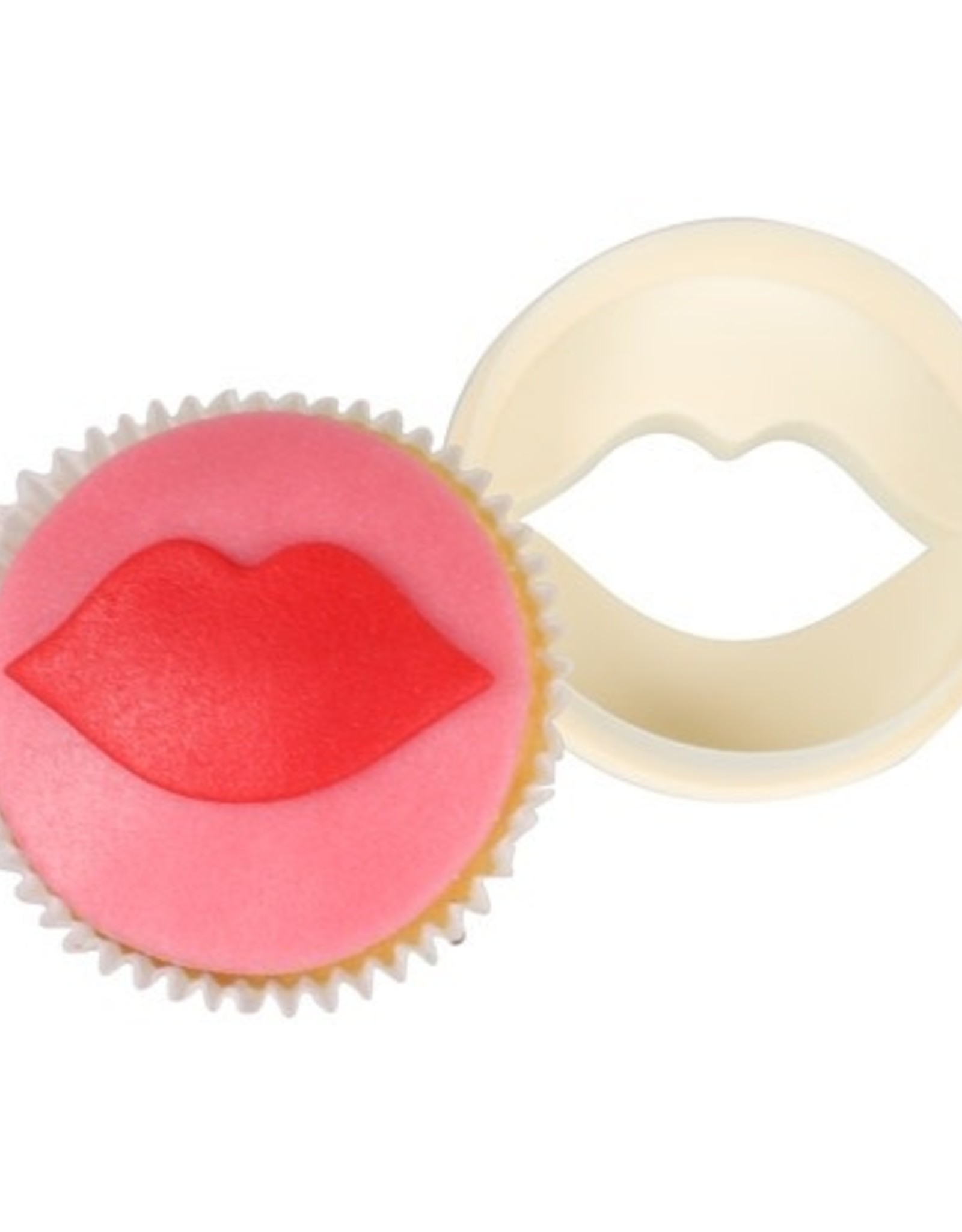 FMM FMM Double Sided Cupcake Cutter Lips/Circle