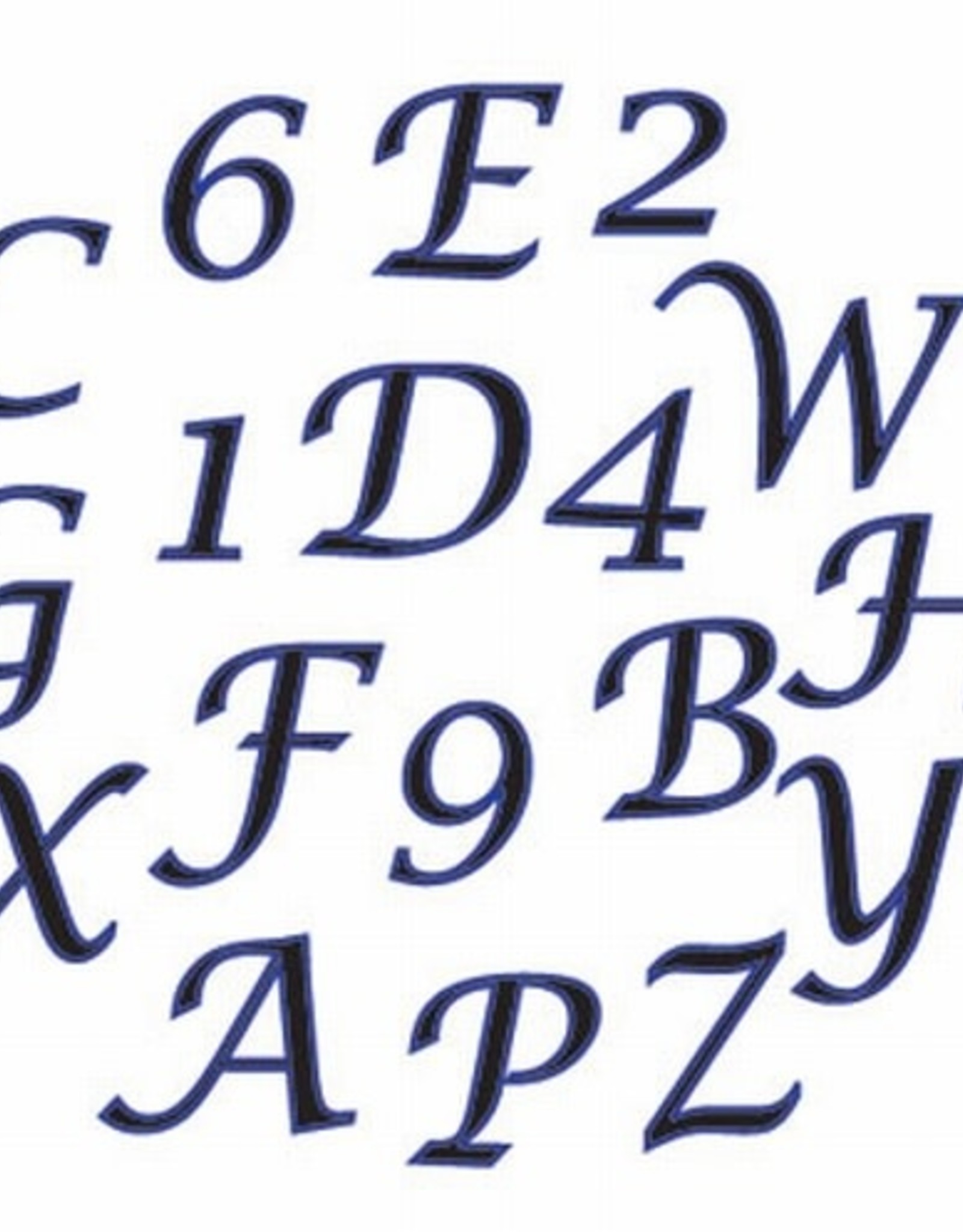 FMM FMM Alphabet & Numbers Tappits Upper Case SCRIPT Italic