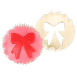 FMM Double Sided Cupcake Cutter Bows/Scallop