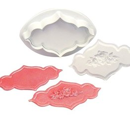 PME Creative Plaque Embossing Cutter -Rose Spray & Plain-XL